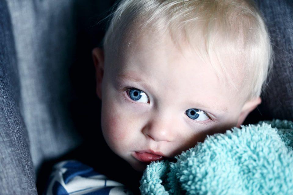 Frightened little boy