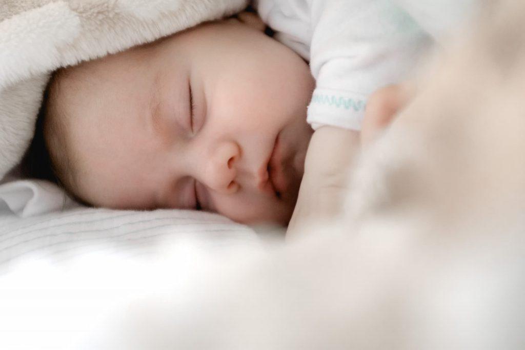 Baby calmly sleeping